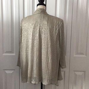 Dress Barn Tops - Shimmery tank and jacket set